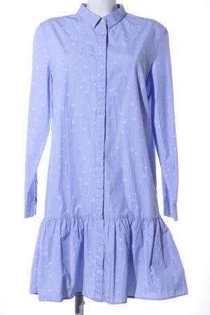 Marc O'Polo Robe chemisier blanc-bleu imprimé avec thème style décontracté