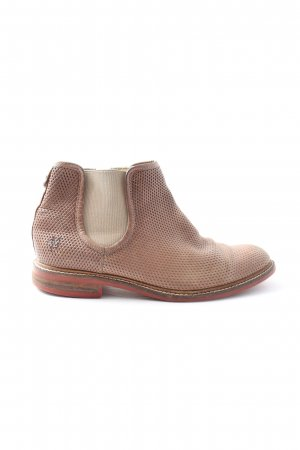 Marc O'Polo Booties pink-wollweiß Motivdruck Casual-Look