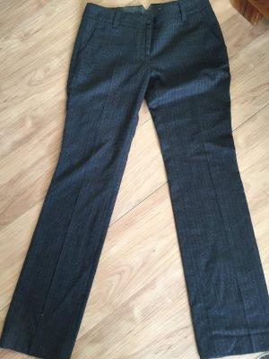 Marc O'Polo Pantalón de lana gris oscuro-blanco puro