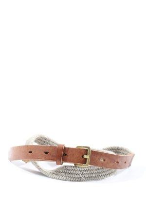Marc O'Polo Pasek materiałowy jasnoszary-brązowy W stylu casual