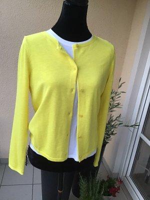 Marc O'Polo Giacca in maglia giallo Cotone