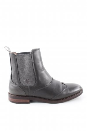 Marc O'Polo Chelsea Boots schwarz-hellgrau Business-Look