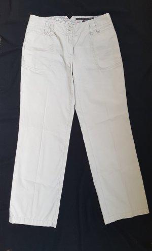 Marc O'Polo Jersey Pants light grey-oatmeal cotton