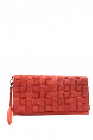 Marc O'Polo Clutch rot Karomuster Casual-Look