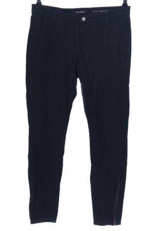 Marc O'Polo Corduroy broek zwart-lichtgrijs gestreept patroon zakelijke stijl