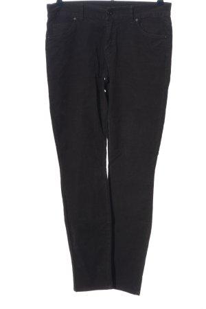 Marc O'Polo Pantalón de pana negro estampado a rayas look casual