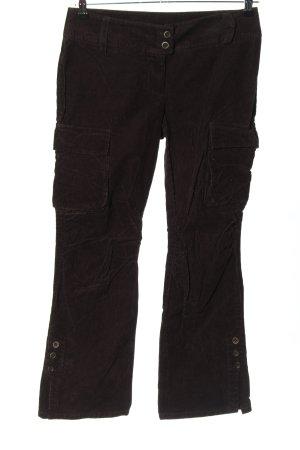Marc O'Polo Pantalone di velluto a coste marrone stile casual