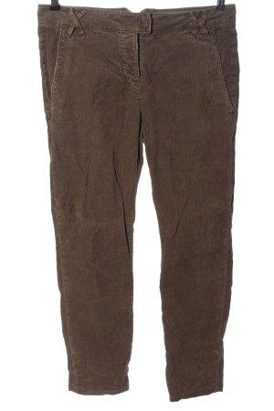 Marc O'Polo Pantalon en velours côtelé brun style décontracté