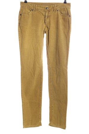 Marc O'Polo Pantalon en velours côtelé jaune primevère style décontracté