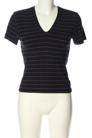 Marc O'Polo Cropped Shirt schwarz Streifenmuster Casual-Look