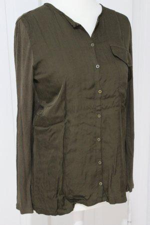 Marc O'Polo Blouse à manches longues ocre-gris brun coton