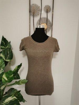 Marc`o Polo Damen Shirt T-Shirt braun meliert kurzarm Größe S