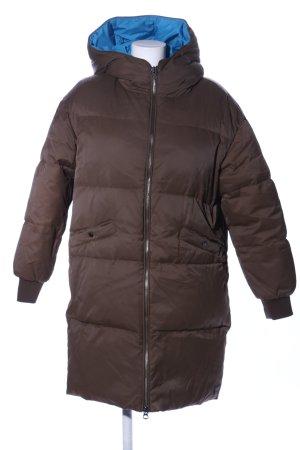 Marc O'Polo Manteau en duvet brun motif de courtepointe style décontracté