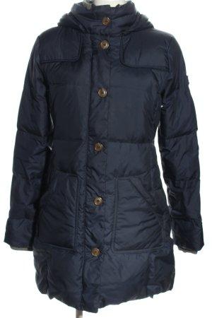 Marc O'Polo Płaszcz puchowy niebieski Pikowany wzór W stylu casual