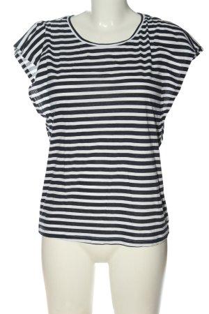 Marc O'Polo DENIM Koszulka w paski czarny-biały Wzór w paski W stylu casual