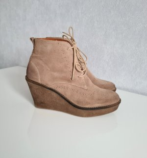 Marc O'Polo Platform Booties beige leather