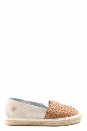 Marc O'Polo Espadrillas crema-marrone stile casual