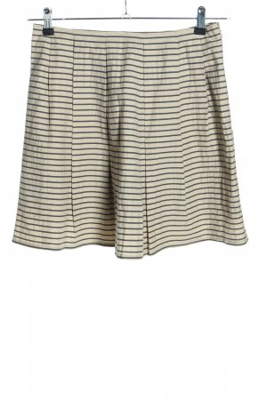Marc O'Polo Plaid Skirt cream-black striped pattern casual look