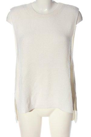 Marc O'Polo Sweter bez rękawów z cienkiej dzianiny w kolorze białej wełny