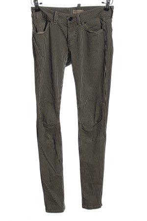 Marc O'Polo Spodnie z pięcioma kieszeniami czarny-biały Wzór w paski