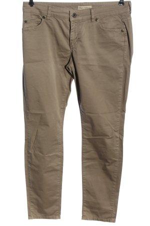 Marc O'Polo Pantalon cinq poches brun style décontracté