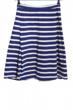 Marc O'Polo Flared Skirt blue-white striped pattern casual look