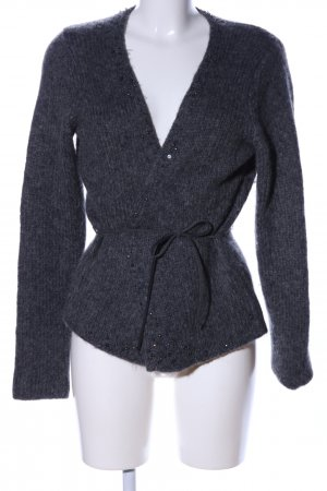 Marc O'Polo Coarse Knitted Jacket light grey flecked casual look