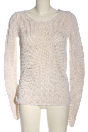 Marc O'Polo Jersey de punto grueso blanco Patrón de tejido elegante