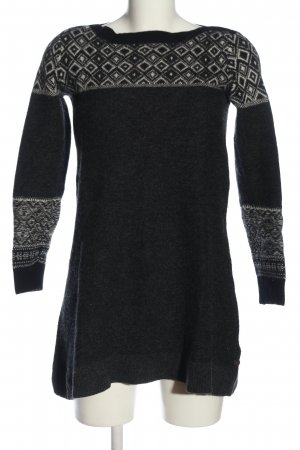 Marc O'Polo Grobstrickpullover schwarz-weiß grafisches Muster Casual-Look