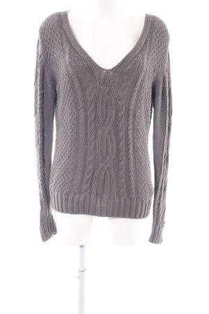 Marc O'Polo Pullover a maglia grossa grigio chiaro punto treccia stile casual