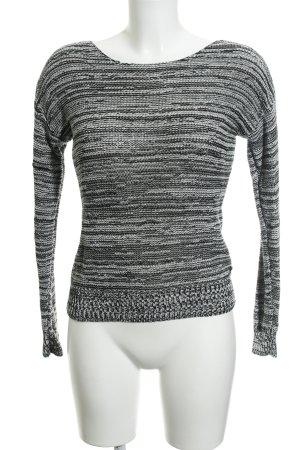 Marc O'Polo Grobstrickpullover schwarz-weiß Streifenmuster Casual-Look