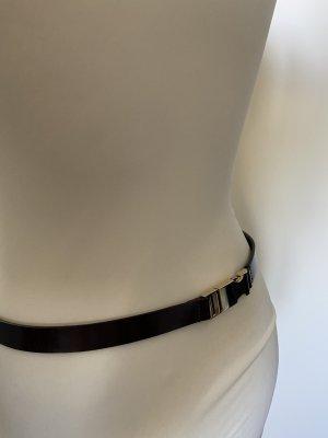 Marc O'Polo Cintura di pelle bordeaux-nero