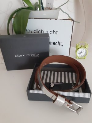 Marc O'Polo Leather Belt silver-colored