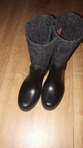 Marc O'Polo Gumowe buty czarny-antracyt