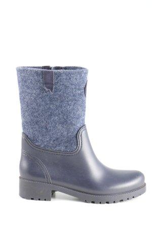Marc O'Polo Wellington laarzen blauw gestippeld casual uitstraling