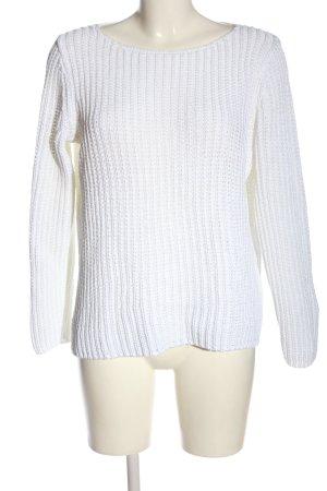 Marc O'Polo Pullover all'uncinetto bianco stile casual