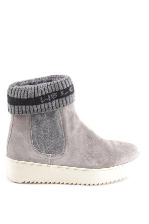 Marc O'Polo Halfhoge laarzen wolwit-lichtgrijs zakelijke stijl