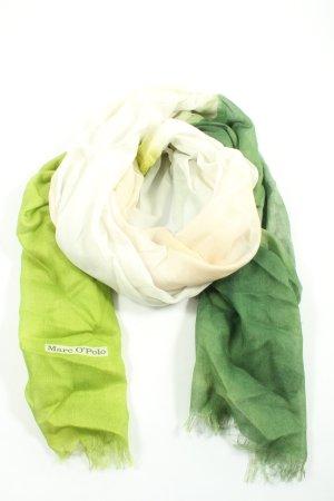 Marc O'Polo Apaszka zielony-w kolorze białej wełny W stylu casual