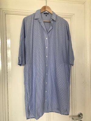 Marc O'Polo Abito blusa camicia blu acciaio-bianco