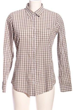 Marc O'Polo Hemd-Bluse braun-weiß Karomuster Casual-Look