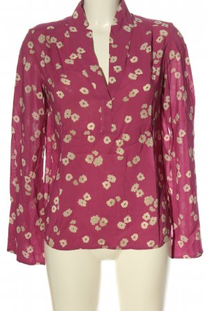 Marc O'Polo Hemd-Bluse pink-creme abstraktes Muster Casual-Look