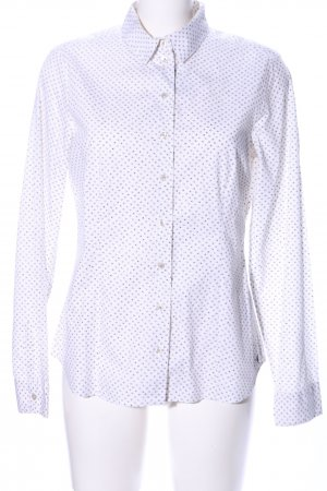 Marc O'Polo Hemd-Bluse weiß Allover-Druck Casual-Look