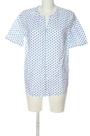 Marc O'Polo Blouse-chemisier blanc-bleu motif abstrait style décontracté
