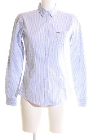 Marc O'Polo Hemd-Bluse weiß-blau Streifenmuster extravaganter Stil