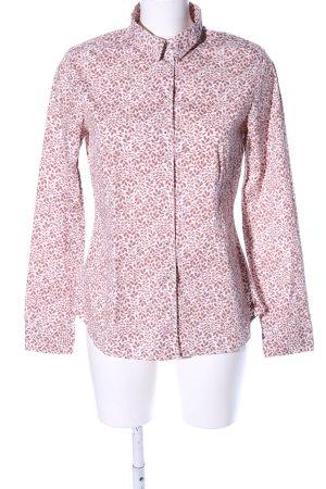Marc O'Polo Hemd-Bluse weiß-braun Blumenmuster Business-Look