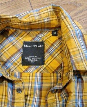 Marc O'Polo Blouse-chemisier jaune-bleu azur