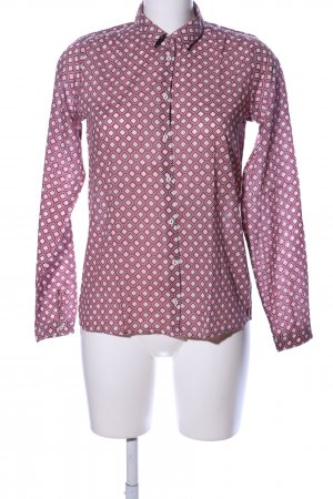 Marc O'Polo Hemd-Bluse pink-creme grafisches Muster Casual-Look