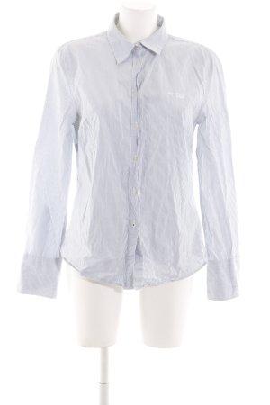 Marc O'Polo Hemd-Bluse weiß-blau Allover-Druck Business-Look