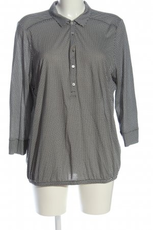 Marc O'Polo Hemd-Bluse schwarz-weiß Allover-Druck Business-Look