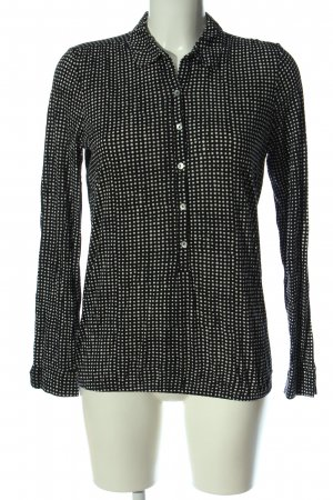 Marc O'Polo Hemd-Bluse schwarz-weiß Punktemuster Casual-Look